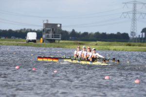 U23-Doppelvierer mit Frauke Hundeling im Bug. Foto: rudern.de